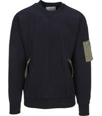 sacai bomber style sweatshirt