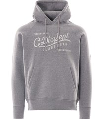 c17 jeans logo hooded sweatshirt | grey | swtf002-gry