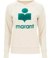 isabel marant milly logo flock sweatshirt