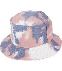 marcus adler women's tie-dye bucket hat - pink grey