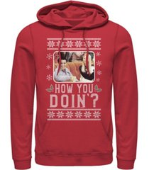 men's friends holiday how you doin hoodie