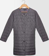 chaqueta unicolor abullonada para mujer color gris gris 8