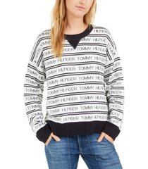 tommy hilfiger logo-striped sweater, created for macy's
