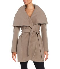 marla wool blend belted wrap coat