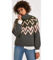 sweter żakardowy
