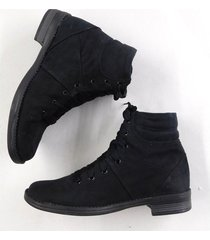 botin casual femenino living younglife negro