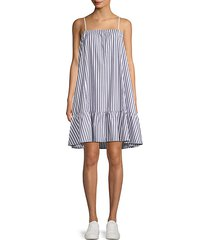 cotton poplin stripe dress