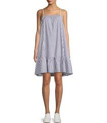 cotton poplin stripe dress