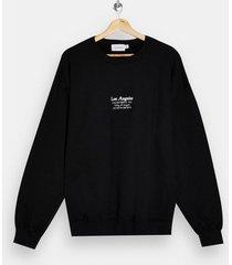 mens la heritage print sweatshirt in black