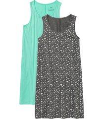 camicia da notte (pacco da 2) (grigio) - bpc bonprix collection