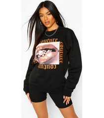 couture print slogan sweatshirt