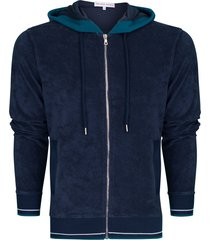 mathers navy classic fit hooded sweatshirt