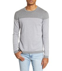 men's benson stripe crewneck sweater