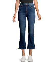 7 for all mankind women's high-rise cropped flare jeans - fletcher - size 24 (0)