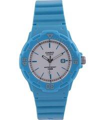 reloj azul turquesa-blanco casio