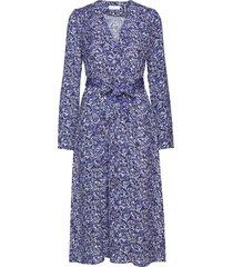 2nd tosca dott jurk knielengte blauw 2ndday