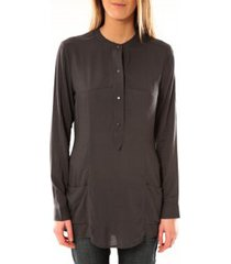 blouse vero moda alec l/s tunic w/out top pockets 10097849 asphalte