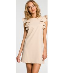 sukienka mini bez rękawów