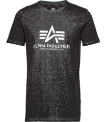 basic t-shirt t-shirts short-sleeved svart alpha industries