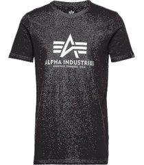 basic t-shirt t-shirts short-sleeved svart alpha industries