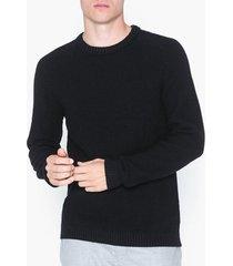 jack & jones jcocloud knit crew neck tröjor svart