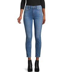 barbara high-rise raw-hem super skinny ankle jeans