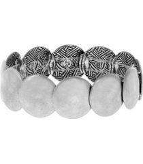 the sak silver-tone hammered stretch bracelet
