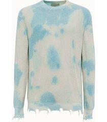 laneus maglia in cotone tie dye
