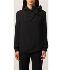 boutique moschino top moschino boutique shirt in silk crepe de chine