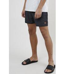 short masculino com cordão e bolsos cinza mescla escuro