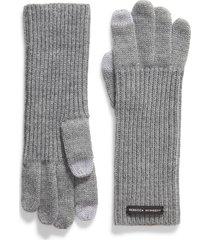 women's rebecca minkoff milano knit gloves, size one size - grey