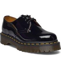 1461 bex black patent lamper snörade skor låga svart dr. martens