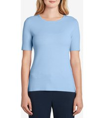 tahari asl solid crewneck top