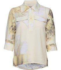 mihoko blouse lange mouwen geel baum und pferdgarten