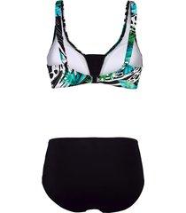 bikini maritim grön/svart/vit