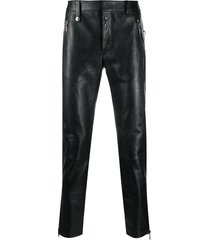 alexander mcqueen mid-rise straight-leg trousers - black