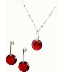 conjunto lunar con swarovski scarlet joyas montero