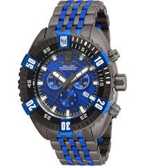 reloj invicta modelo 16302_out gunmetal, azul hombre