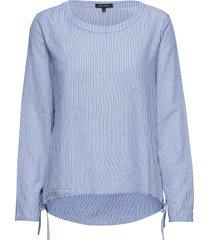 blouse blus långärmad blå marc o'polo