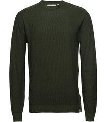 curth stickad tröja m. rund krage grön minimum