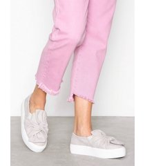 nly shoes twist platform sneaker low top light grey