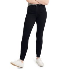 women's madewell roadtripper jeans, size 26 tall - black