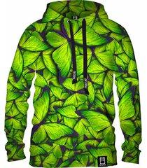 męska bluza z kapturem dr.crow motyle green