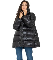 high-neck shine down jacket