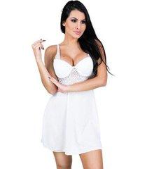 camisola mvb modas bojo lingerie renda feminina