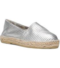 slfellen metallic espadrilles sandaletter expadrilles låga silver selected femme