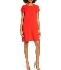 women's chelsea28 crepe shift dress, size small - red