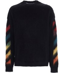 off-white diag brushed sweater