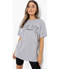 oversized amour t-shirt, grey marl