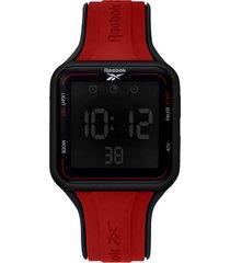 reloj rojo reebok square elements digital